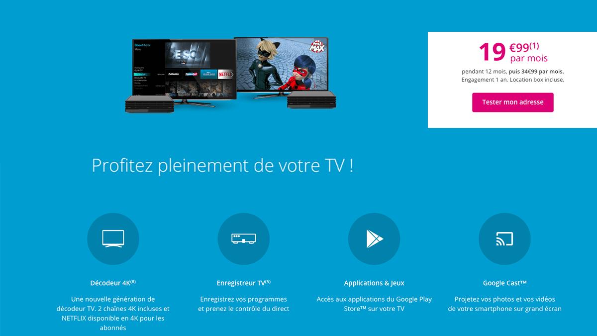 Bbox Must et Ultym avec Android TV à partir de 1ç,99€/mois.