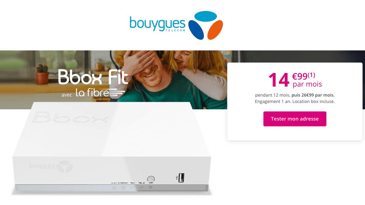 Bouygues Telecom vend sa box internet Bbox Fit pas cher.