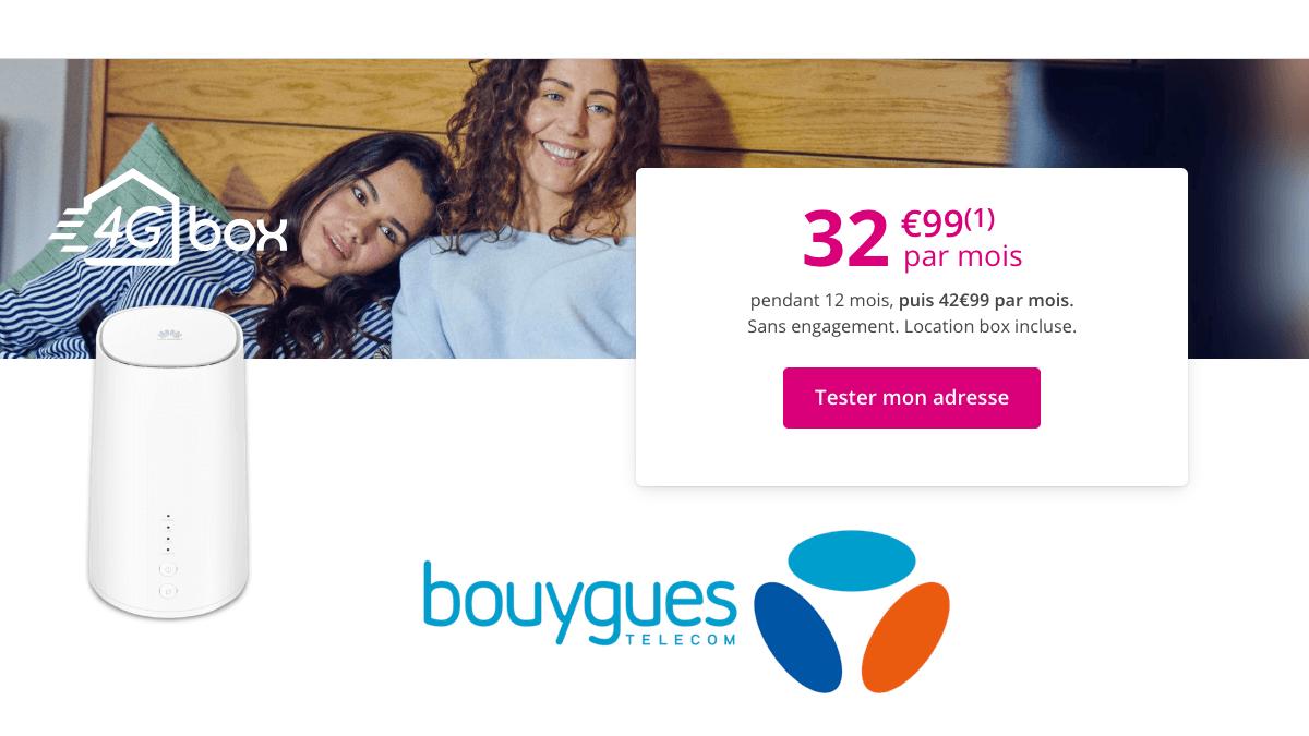 Bouygues Telecom met en promotion sa box internet 4G.