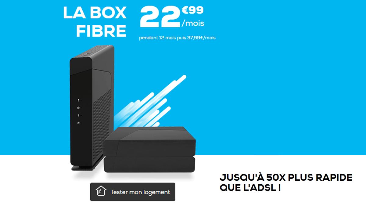 La box fibre de La Poste Mobile est de son côté soldée à 22,99€/mois au lieu de 37,99€.