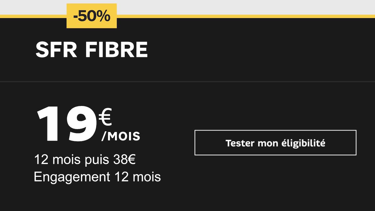 La proposition de SFR en termes de box fibres à petit prix