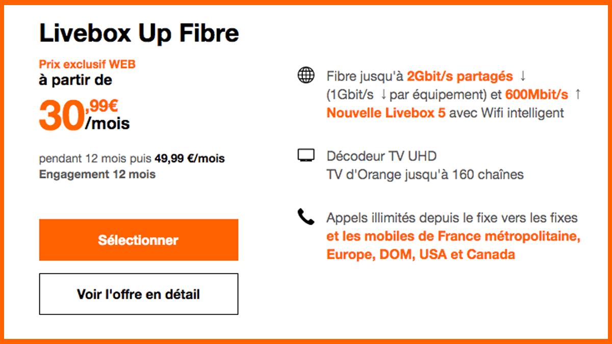 La Livebox Up d'Orange est à 30,99€