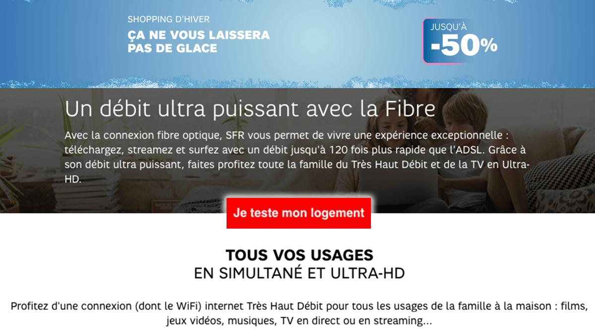 Box fibre optique SFR à -50%.