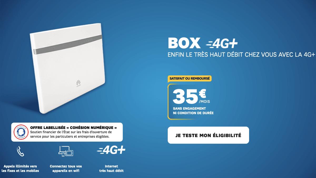 4G box en promotion chez SFR pour compenser le débit