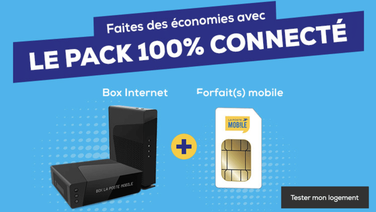 L'offre de La Poste Mobile pour une box internet + forfait 4G à prix réduit