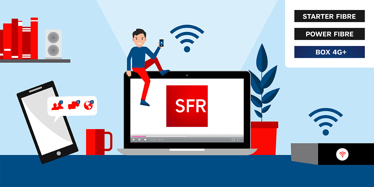 Les box internet SFR.
