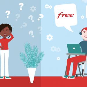 Contacter le service client Free mobile.