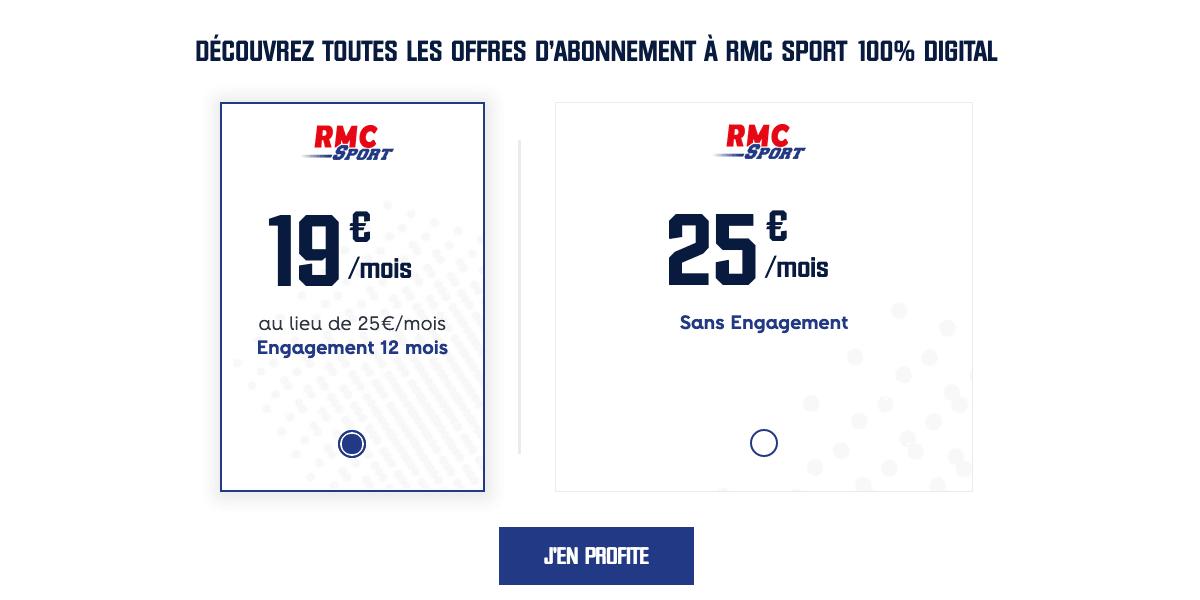 RMC Sport depuis le site internet.