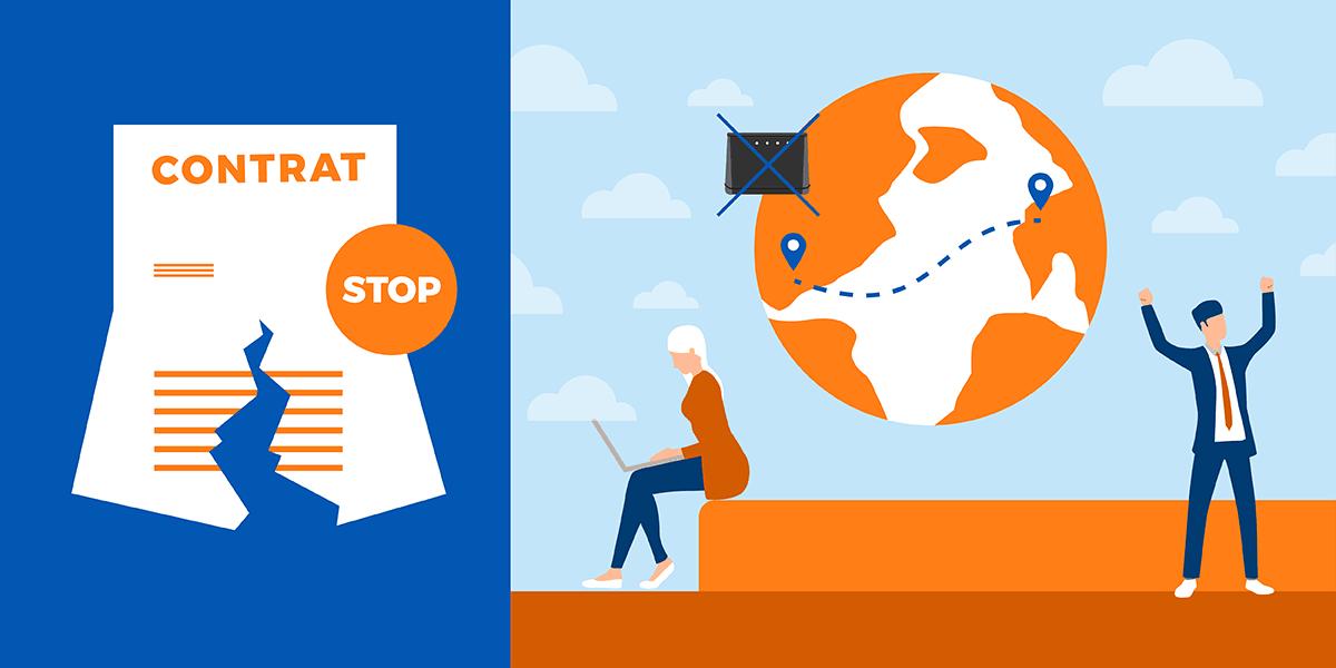 Résilier internet départ à l'étranger.