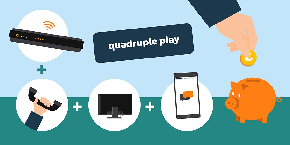 Box internet quadruple play.