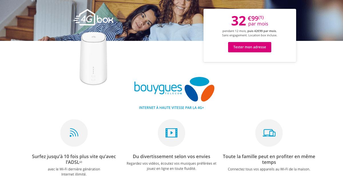 Une promotion court sur la box 4G de Bouygues Telecom
