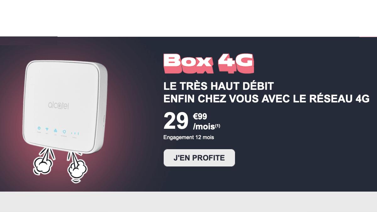 La box 4G de NRJ Mobile à moins de 30€/mois