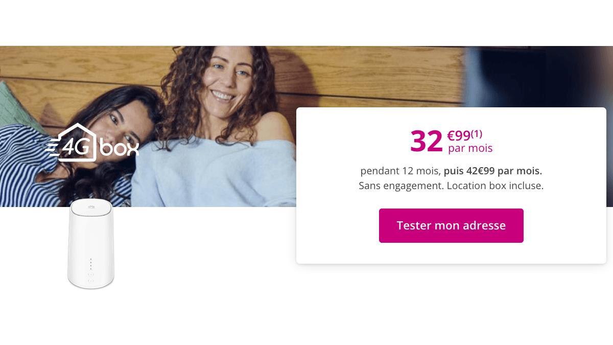 Bouygues Telecom propose une box 4G en promo