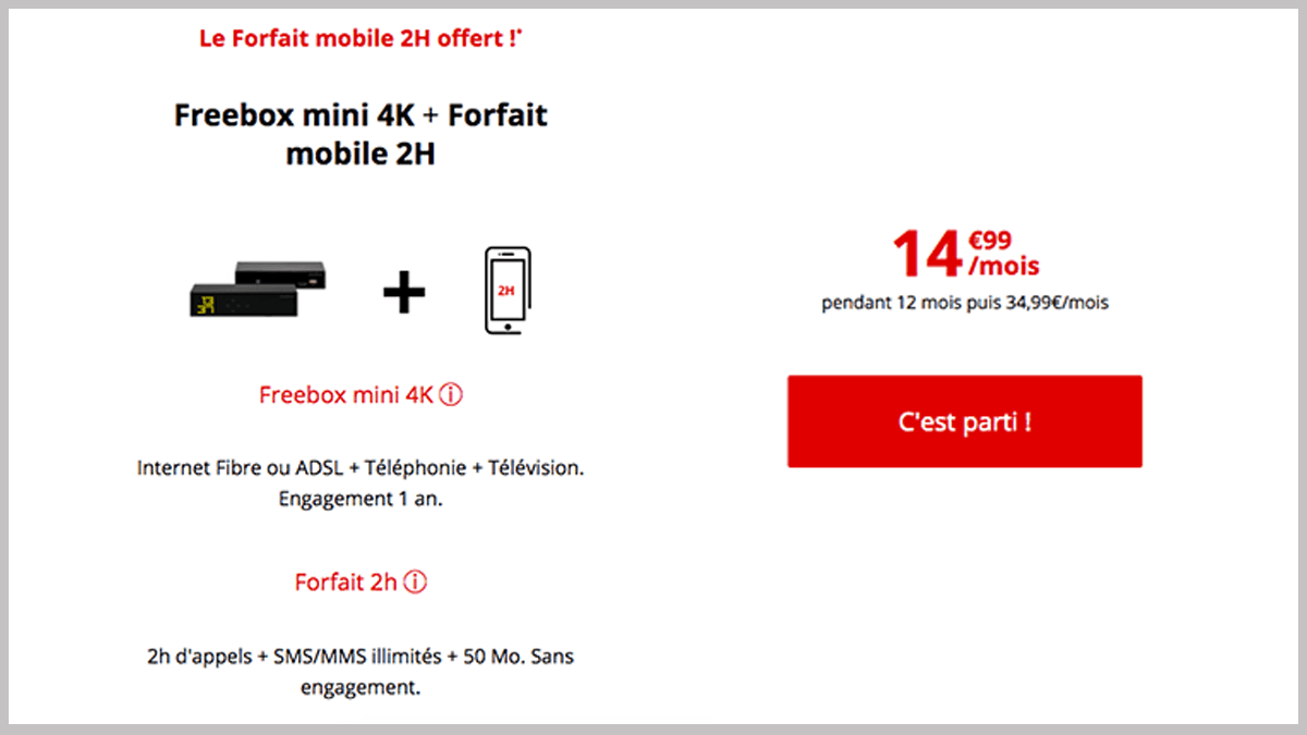 forfait internet et telephone mobile free