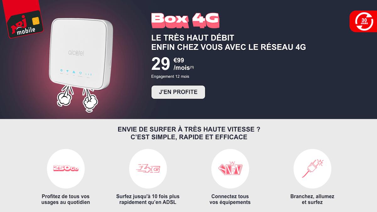 La box internet 4G de NRJ mobile à petit prix