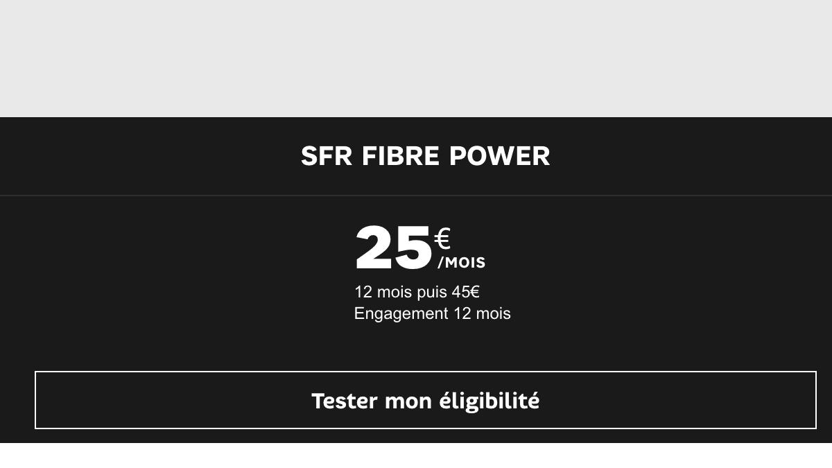 SFR propose une box internet Fibre Power avec bouquet TV