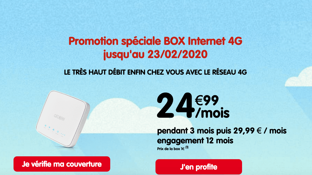 La box internet 4G de NRJ Mobile