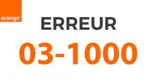 Erreur wifi_03_1000 Orange