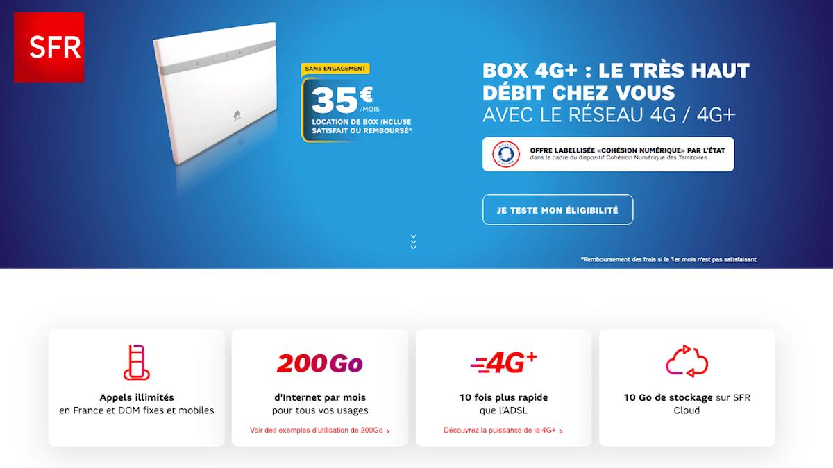 SFR réalise une offre exceptionnelle sur sa box internet 4G
