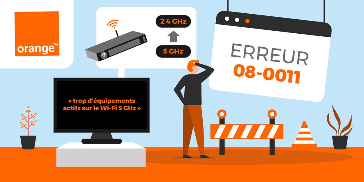 Signification et solutions pour le code erreur Orange wifi_08_0011