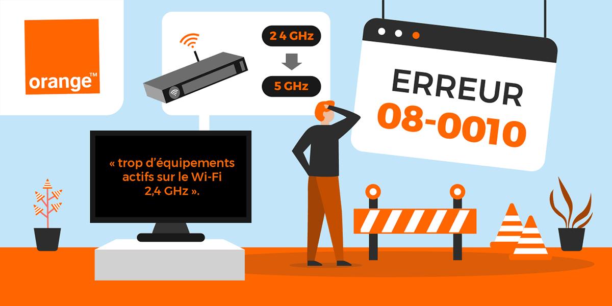 Ce qu'il faut savoir au sujet du code erreur 08_0010 d'Orange
