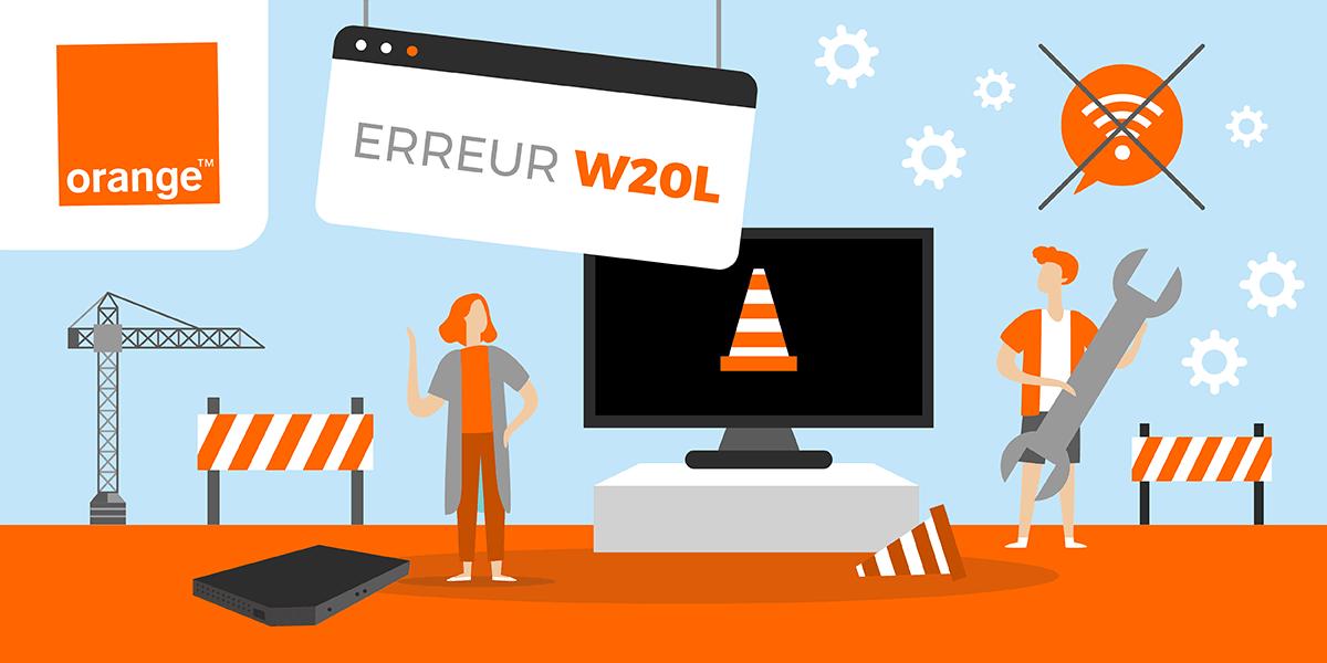 Le code erreur W20L des box TV Orange.