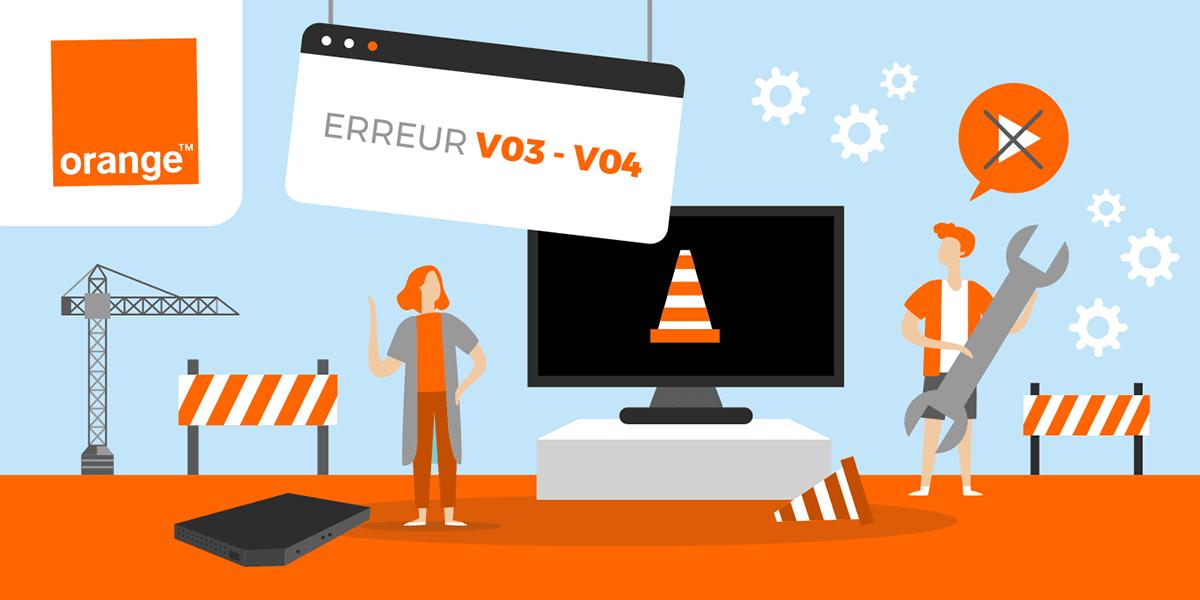 Résoudre les codes erreur V03 et V04 sur les box TV d'Orange