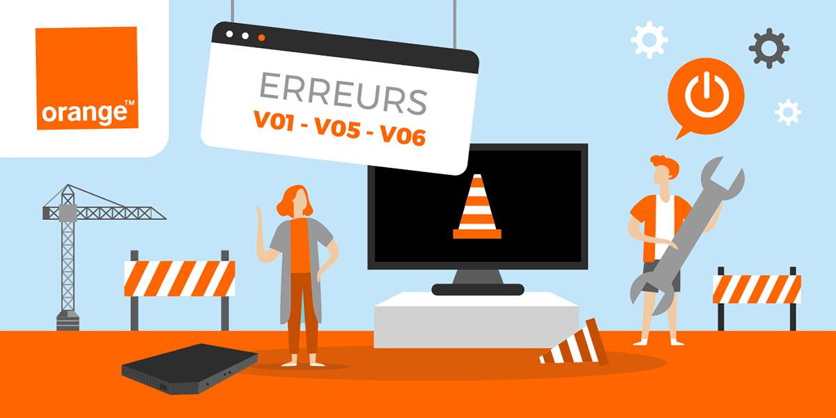 Les erreurs V01, V05 et V06 possibles sur les box internet d'Orange