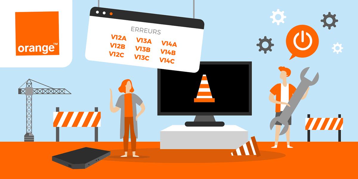 Tout savoir au sujet des codes erreurs V12 V13 et V14 d'Orange