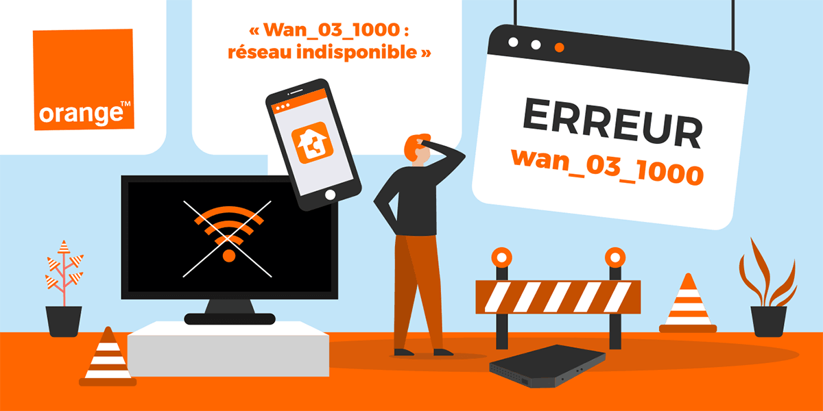 Le code erreur wan 03 1000 sur les box internet d'Orange