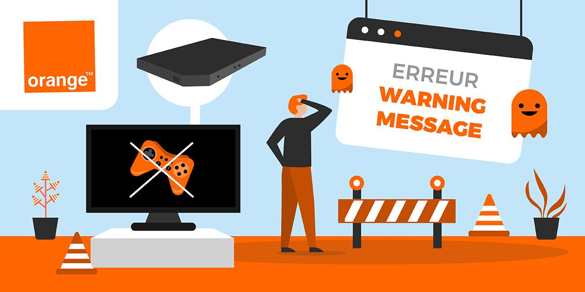 Code erreur Warning Message Orange.