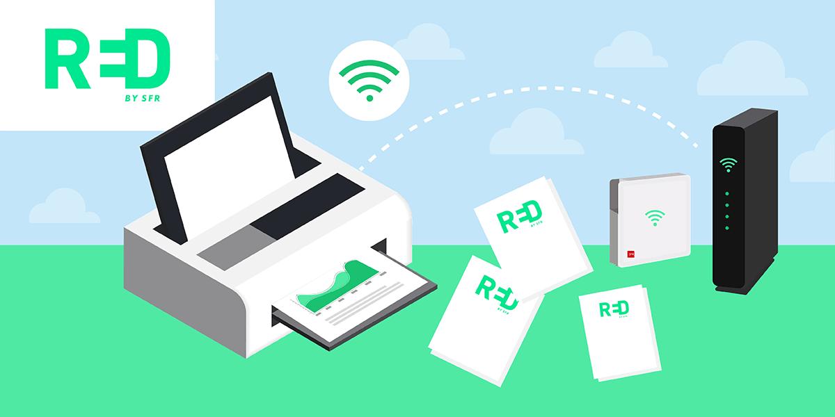 Imprimer avec sa box internet RED by SFR.