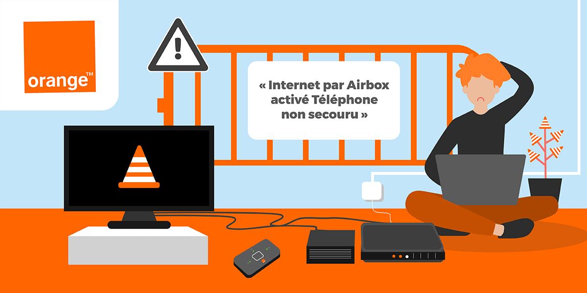 Orange Téléphone non secouru que faire ?