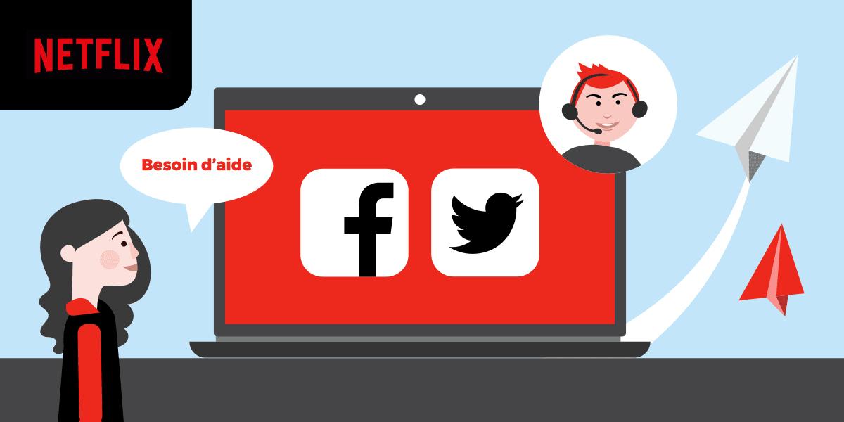 Joindre Netflix par Facebook ou Twitter