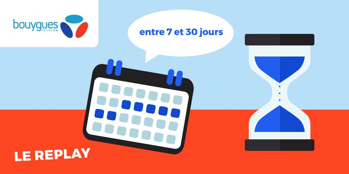Durée des programmes du replay Bouygues Telecom