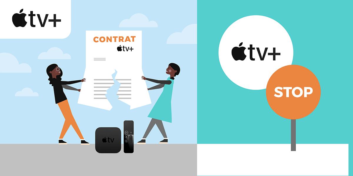 Résiliation Apple TV Plus.