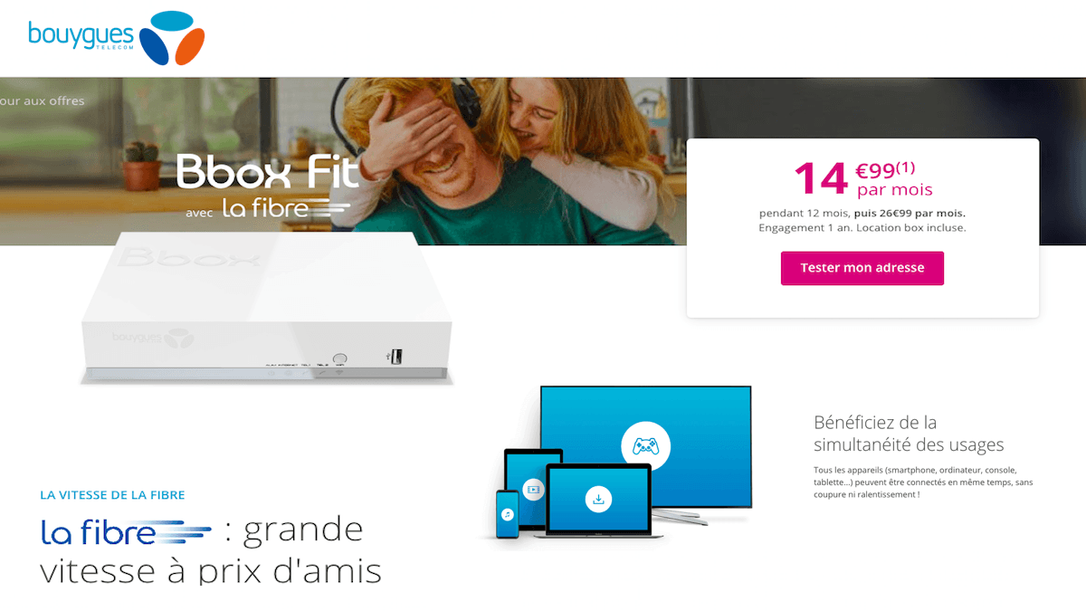 Box internet dual play bbox Fit promo