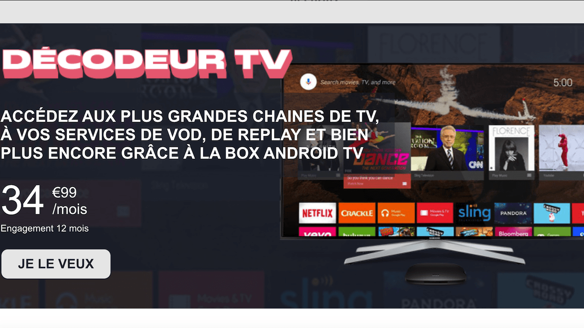 La box 4G NRJ Mobile propose un décodeur TV en option