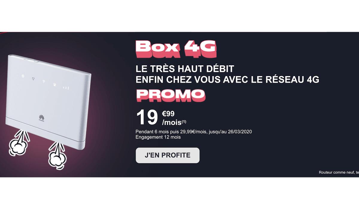 La box 4G de NRJ Mobile en promo est à 19,99€/mois