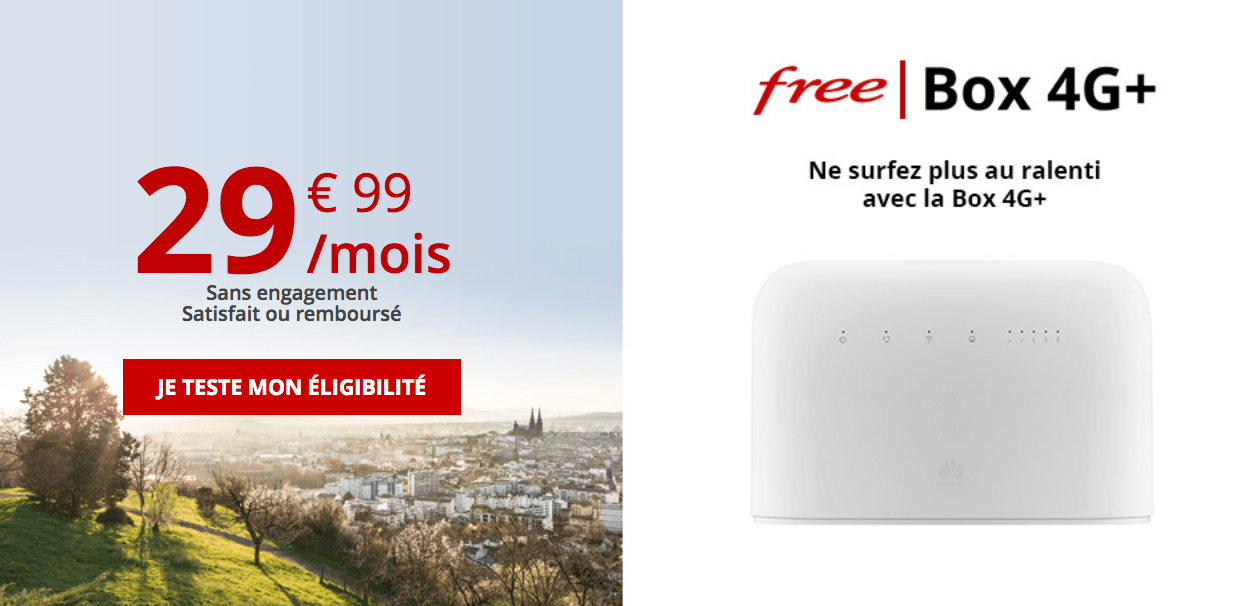 L'offre fixe en 4G de Free