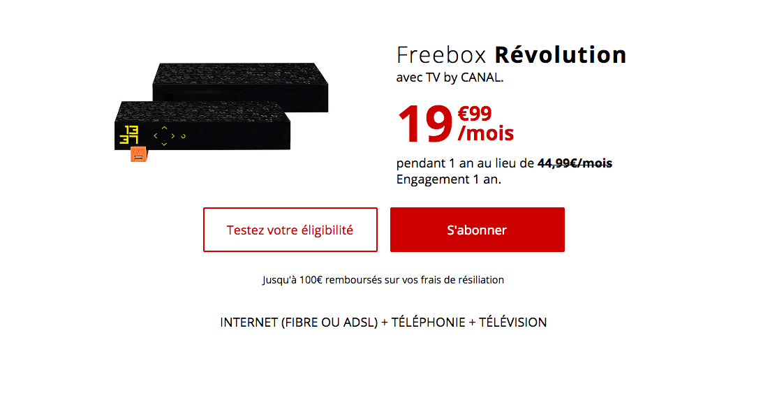 le forfait box révolution