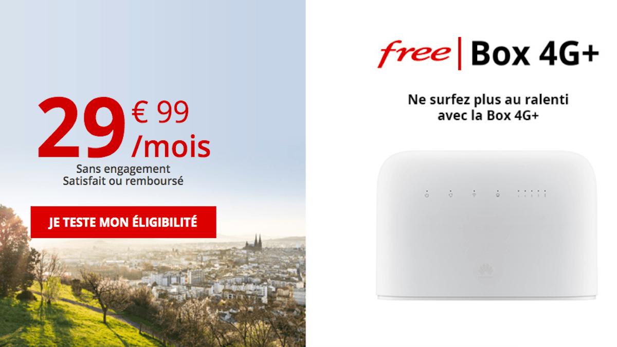 La Freebox 4G sans engagement free mobile