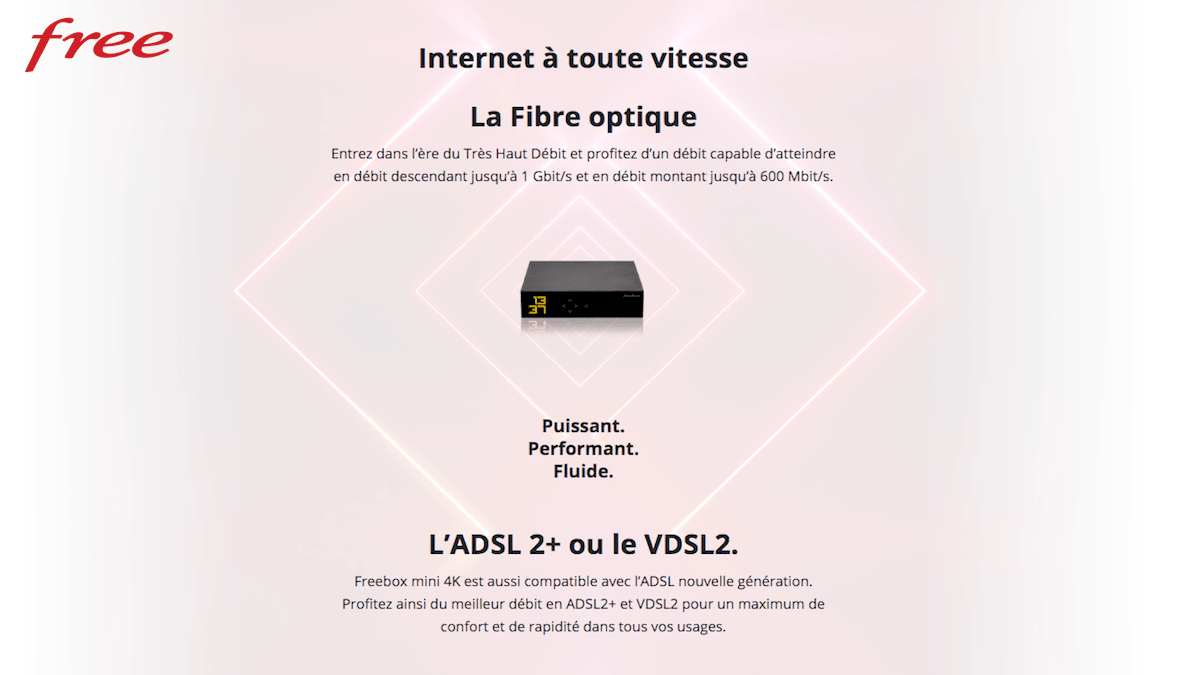 Connexion haut débit pas chère avec la frebox mini 4K