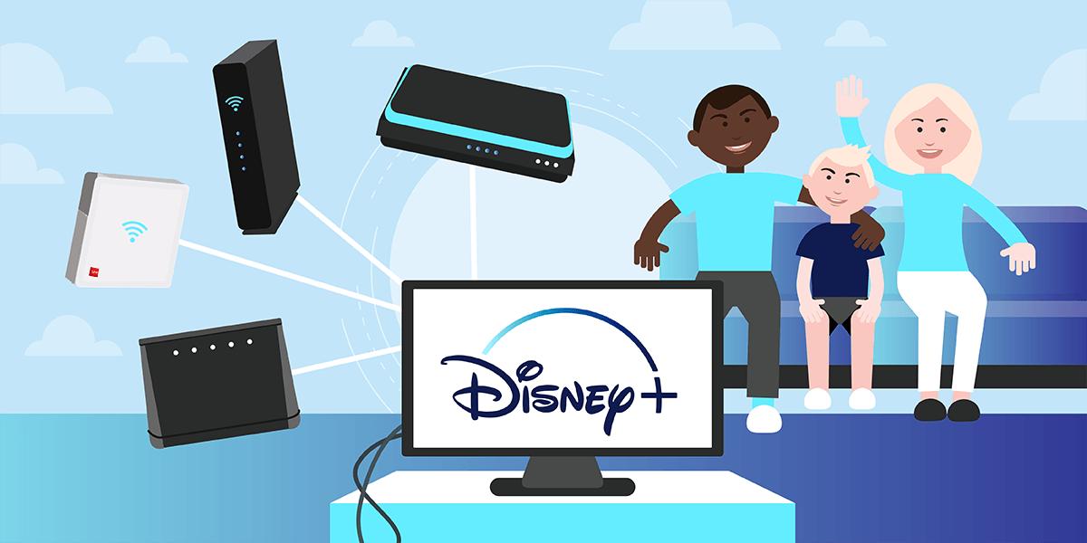 Les box internet avec Disney+.