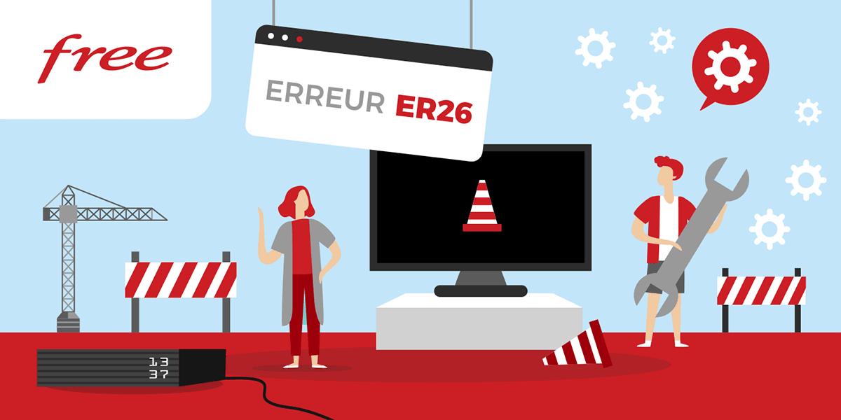 Comment régler le code erreur ER26 de sa box Free