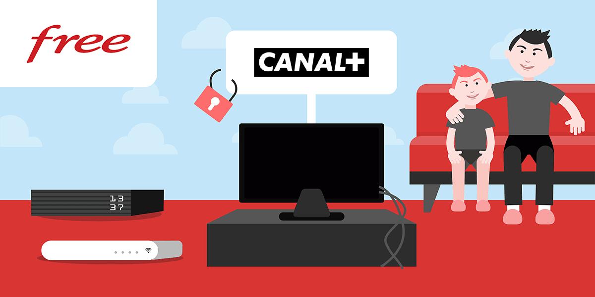Souscrire CANAL Plus avec une Freebox.