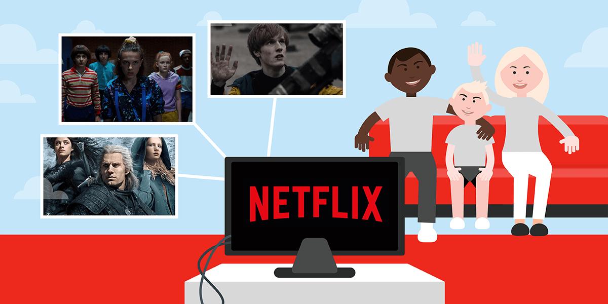 Netflix sur box internet.