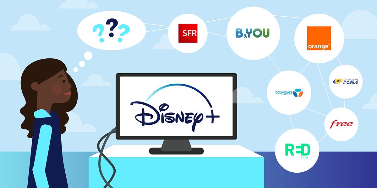 Disney Plus avec les abonnements internet.
