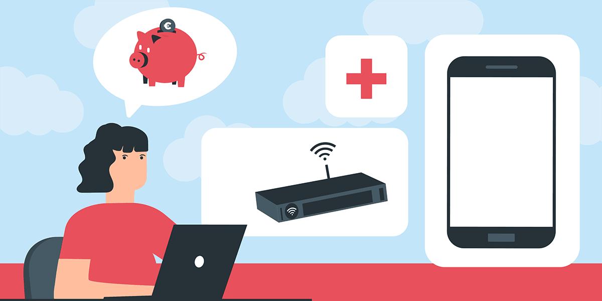 Box internet et forfait mobile pour télétravail.