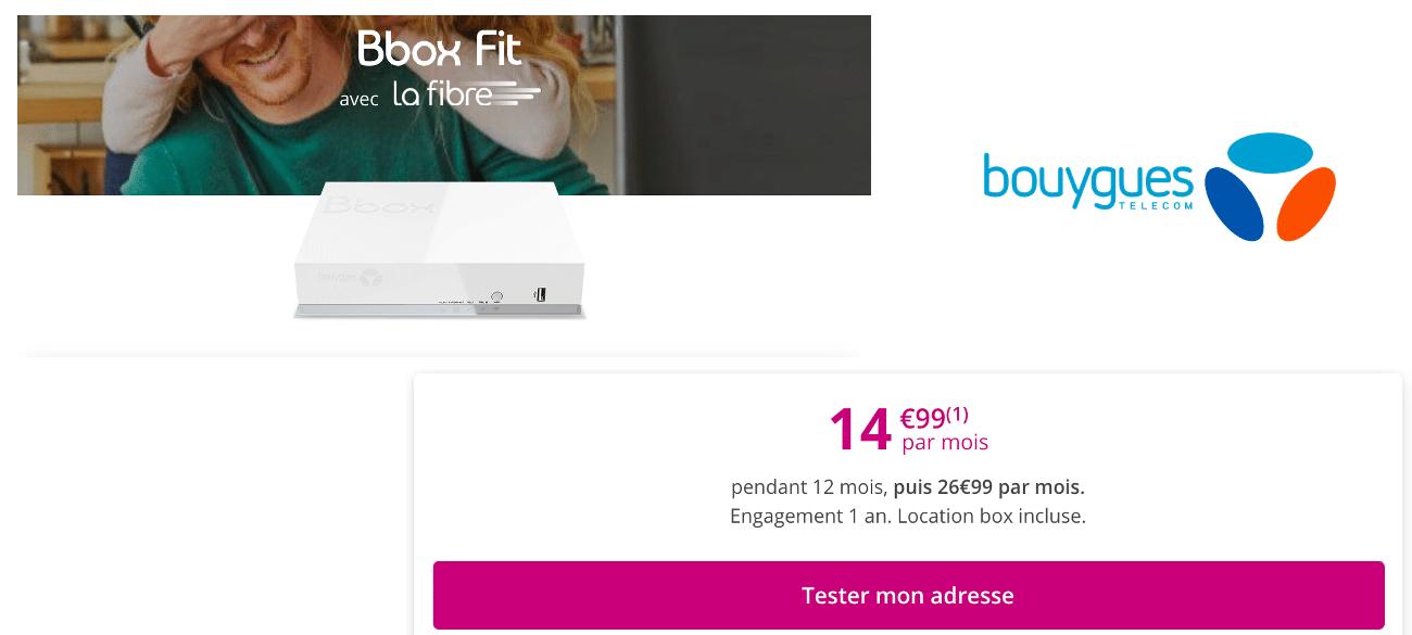 Bbox Fit box pas chère Bouygues Telecom promo